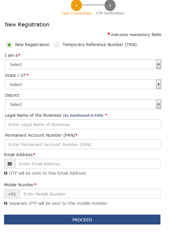 image for new registration screen