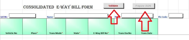 consolidated e way bill excel format and procedure free download
