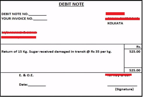 Credit Note and Debit Note Concept under GST pic
