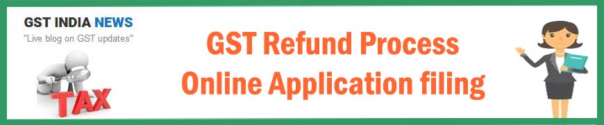 GST Refund Application, Status, Notification and process