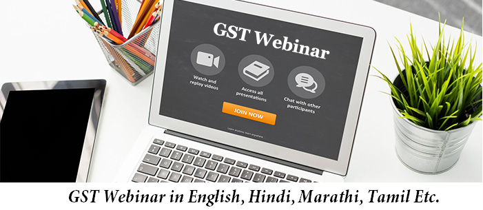 picture of gst webinar today in english, hindi and marathi