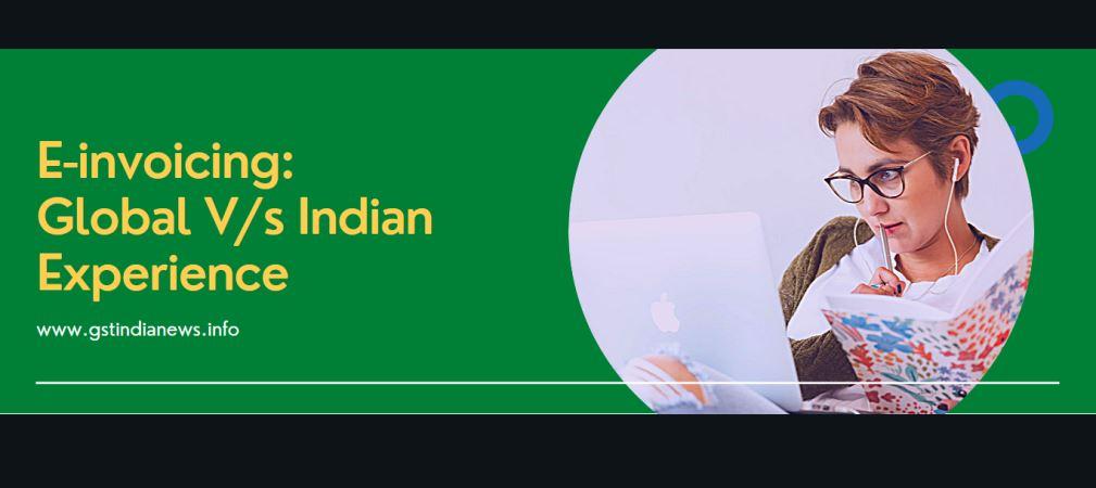 e invoice global vs india